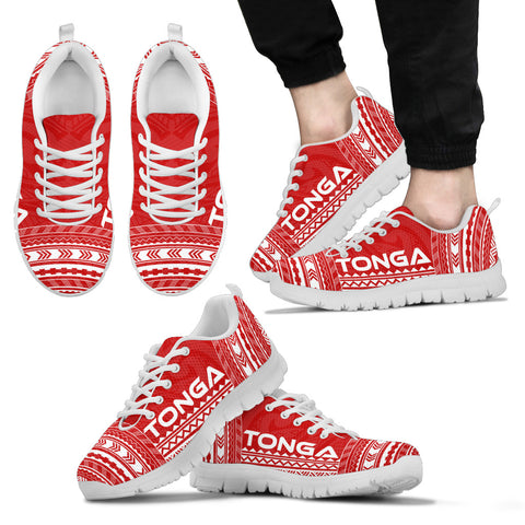 Men's Tonga Sneakers - Polynesian Chief Flag Version White