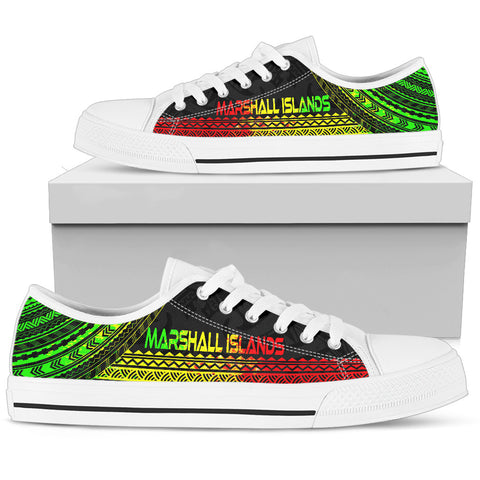 Women's Marshall Islands Low Top Shoes - Polynesian Reggae Chief Version