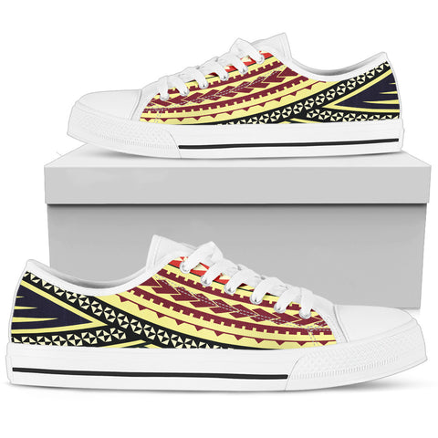 Women's Polynesian Low Top Shoes - Multiple Version White