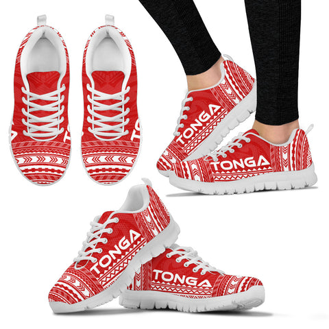 Women's Tonga Sneakers - Polynesian Chief Flag Version White