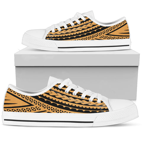 Women's Polynesian Low Top Shoes - Gold Black Version White