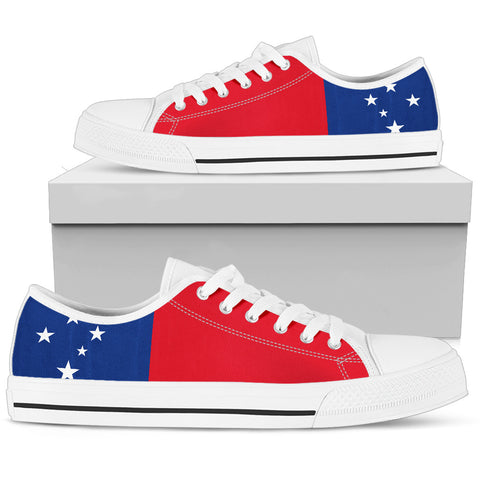 Image of Samoa Flag Low Top Shoe Bn10