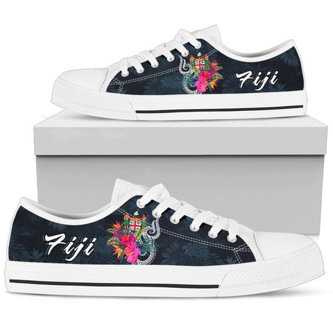 Fiji Polynesian Low Top Shoe - Tropical Flower - BN12
