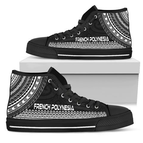 French Polynesia High Top Shoe - Polynesian Black Chief Version - Bn10