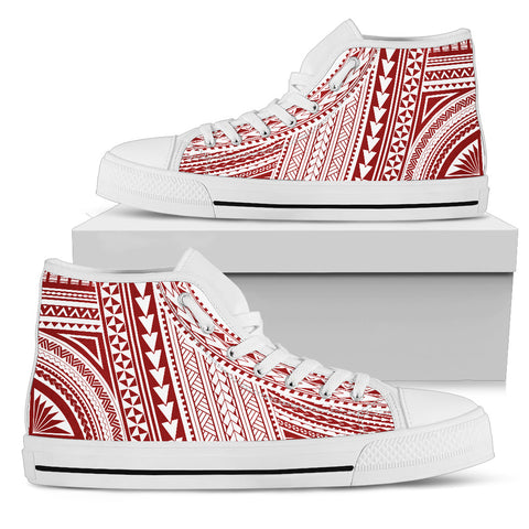 Polynesian High Top Canvas Shoes - Red Version Bn10