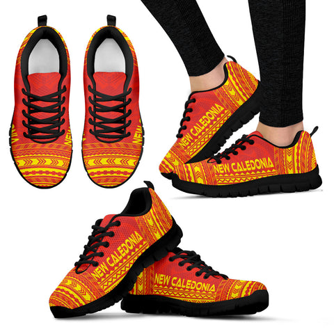 Women's New Caledonia Sneakers - Polynesian Chief Flag Version Black