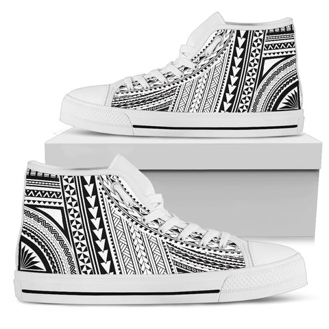 Image of Polynesian High Top Canvas Shoes Bn10