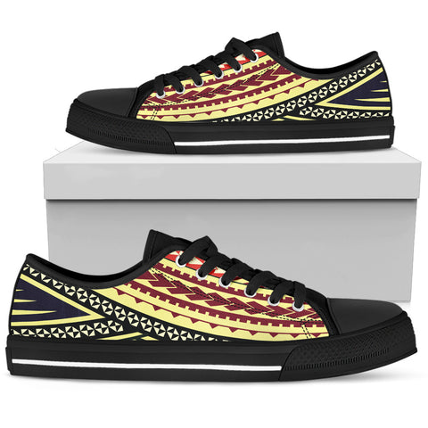 Women's Polynesian Low Top Shoes - Multiple Version Black