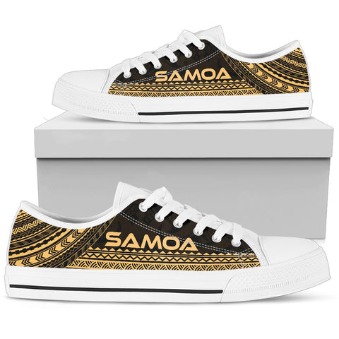 Men's Samoa Low Top Shoes - Polynesian Gold Chief Version