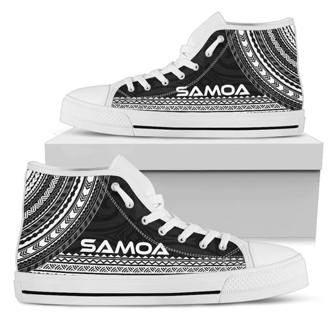 Image of Samoa High Top Shoe - Polynesian Black Chief Version - Bn10