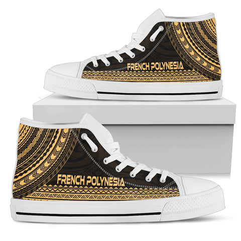 French Polynesia High Top Shoe - Polynesian Gold Chief Version