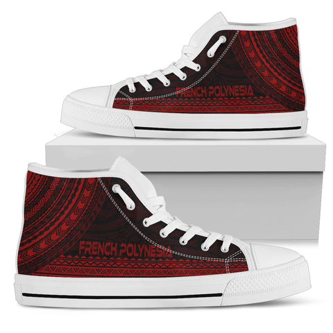 French Polynesia High Top Shoe - Polynesian Red Chief Version