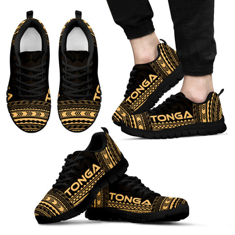 Men's Tonga Sneakers - Polynesian Chief Gold Version Black