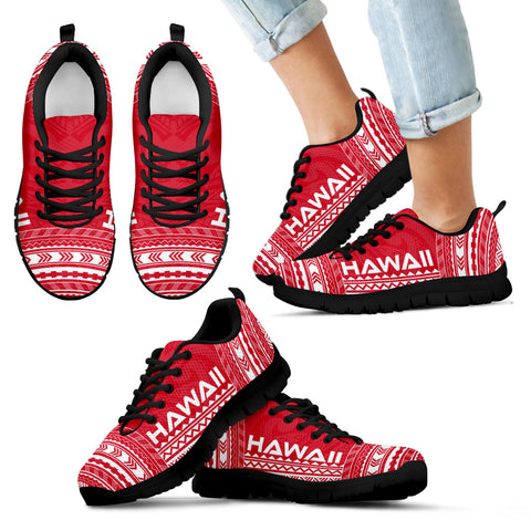 Image of Kid's Hawaii Sneakers - Polynesian Chief Flag Version Black