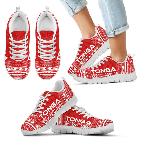 Image of Kid's Tonga Sneakers - Polynesian Chief Flag Version White