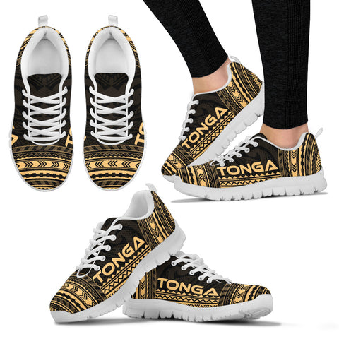 Women's Tonga Sneakers - Polynesian Chief Gold Version White