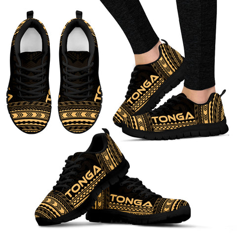 Women's Tonga Sneakers - Polynesian Chief Gold Version Black