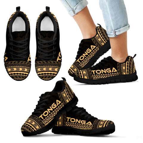 Kid's Tonga Sneakers - Polynesian Chief Gold Version Black