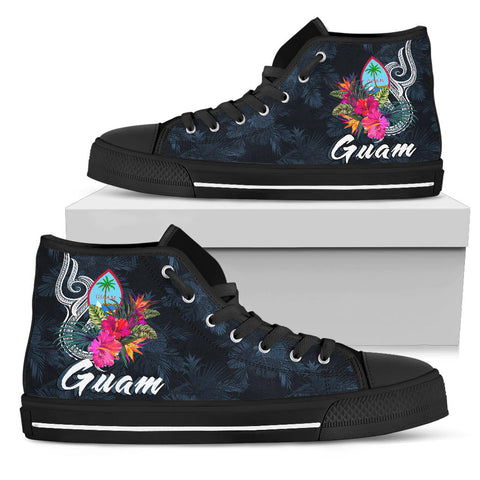 Guam Polynesian High Top Shoe - Tropical Flower