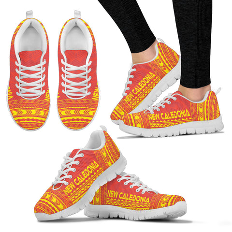 Image of Women's New Caledonia Sneakers - Polynesian Chief Flag Version White
