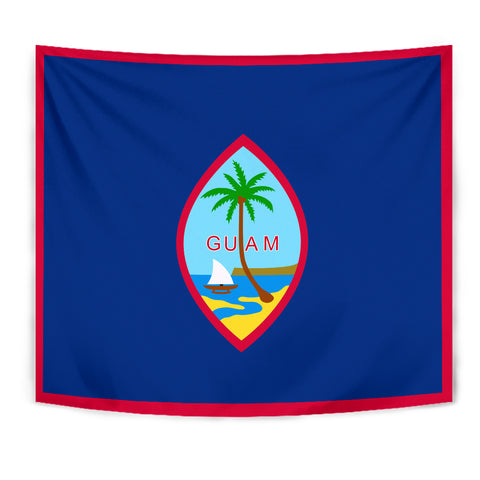 Image of Guam Flag Polynesian Tapestry - BN12