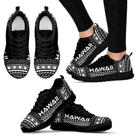 Image of Women's Hawaii Sneakers - Polynesian Chief Black Version Black