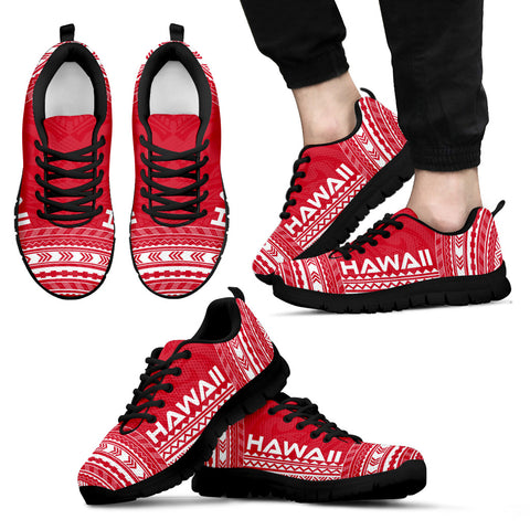 Image of Men's Hawaii Sneakers - Polynesian Chief Flag Version Black