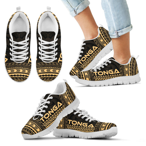 Kid's Tonga Sneakers - Polynesian Chief Gold Version White