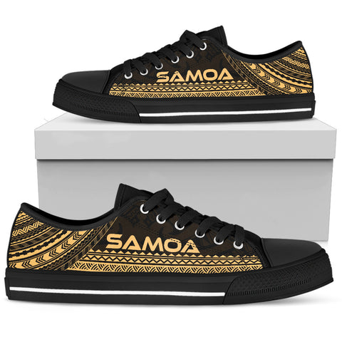 Women's Samoa Low Top Shoes - Polynesian Gold Chief Version