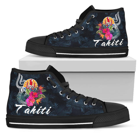 Tahiti Polynesian High Top Shoe - Tropical Flower
