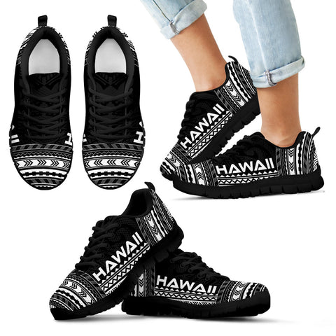 Kid's Hawaii Sneakers - Polynesian Chief Black Version Black