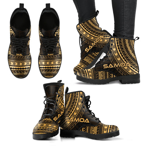samoa Leather Boots - Polynesian Gold Chief Version