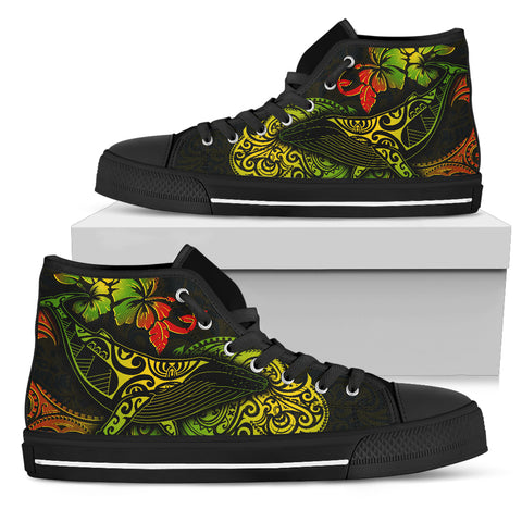 Hawaii High Top Shoes - Polynesian Humpback Whale - BN1518