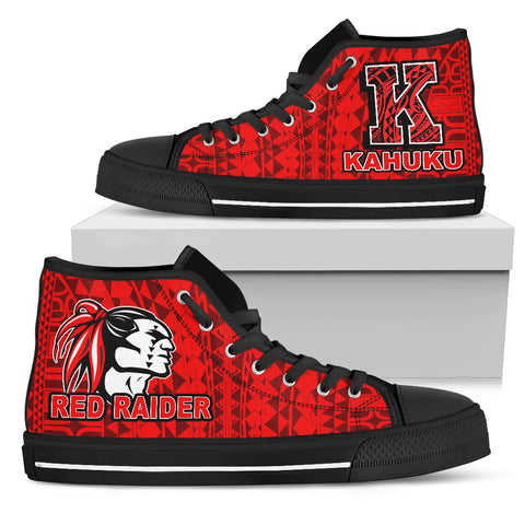 Image of Hawaii Polynesian High Top Shoes - Red Raider Kahuku
