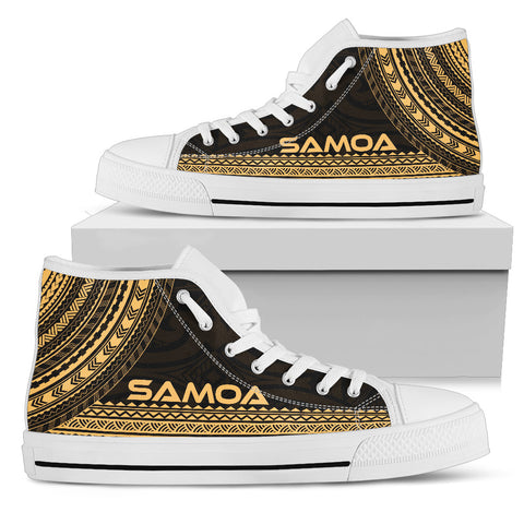 Image of Samoa High Top Shoe - Polynesian Gold Chief Version - Bn10
