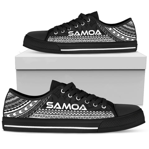 Women's Samoa Low Top Shoes - Polynesian Black Chief Version