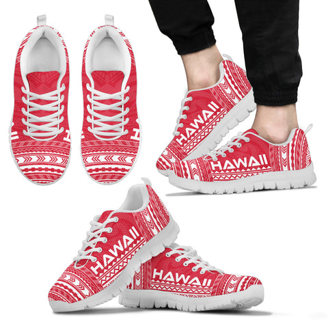 Men's Hawaii Sneakers - Polynesian Chief Flag Version White