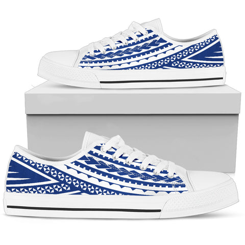 Women's Polynesian Low Top Shoes - Blue Version White