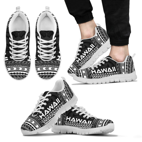 Image of Men's Hawaii Sneakers - Polynesian Chief Black Version White