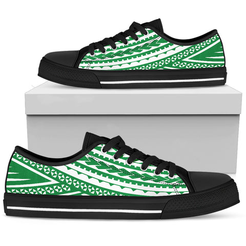 Men's Polynesian Low Top Shoes - Green Version Black