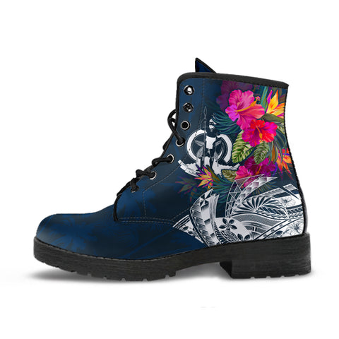 Image of Vanuatu Polynesian Leather Boots  - Summer Vibes