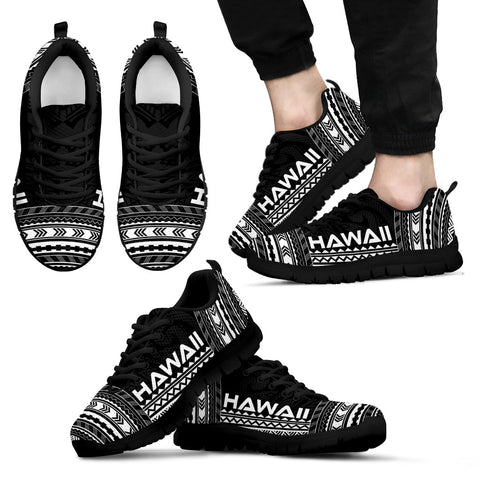 Image of Men's Hawaii Sneakers - Polynesian Chief Black Version Black