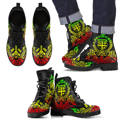 Fiji Leather Boots - Tribal Reggae - BN04