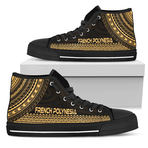 French Polynesia High Top Shoe - Polynesian Gold Chief Version - Bn10