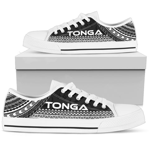 Men's Tonga Low Top Shoes - Polynesian Black Chief Version