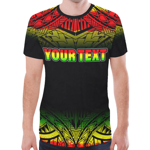 Polynesian Custom Personalised T-Shirt - Polynesian Turtle Tattoo Fog Reggae - BN09