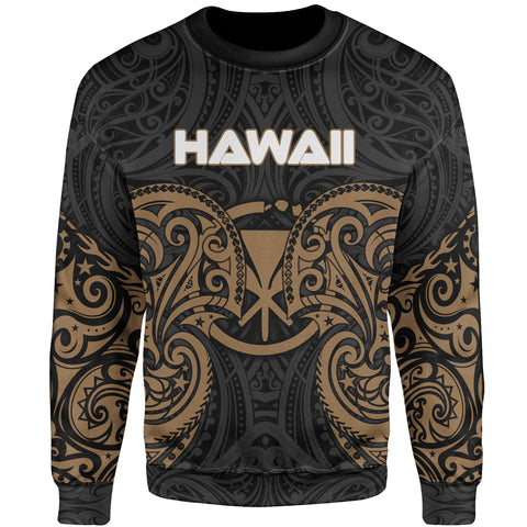 Hawaii Polynesian Sweater - Spirit Style Gold
