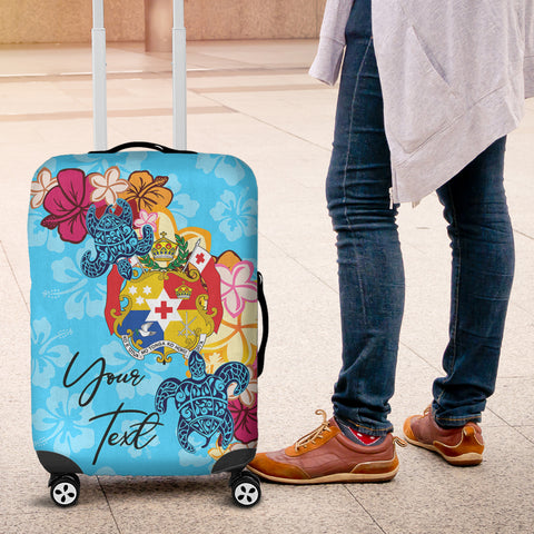 Tonga Custom Personalised Luggage Covers -Tropical Style - BN01