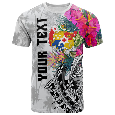 Image of Tonga Custom Personalised T-Shirt - Summer Vibes (White)
