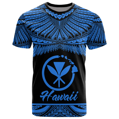 Hawaii Polynesian T-Shirt -Hawaii Pride Blue Version
